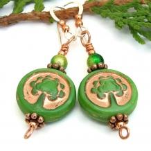One of a kind Tree of Life handmade dangle earrings.