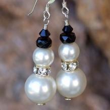 handmade snowmen earrings
